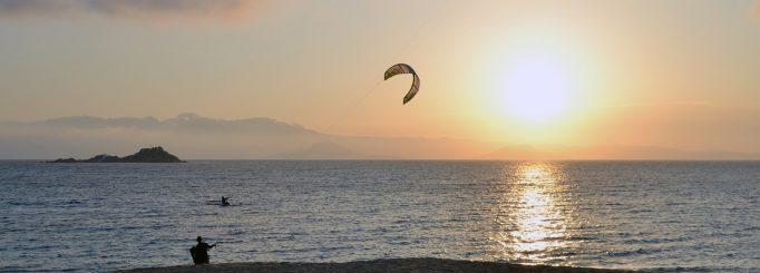 Surf report from kitesurfing in Naxos