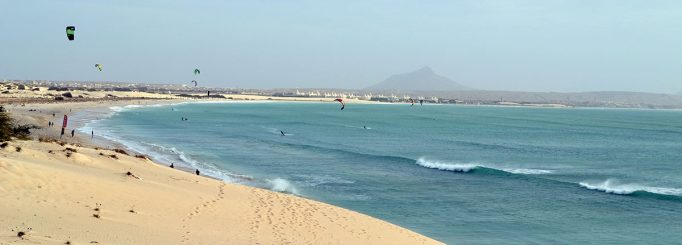 Kitesurfing at Boa Vista, Cape Verde