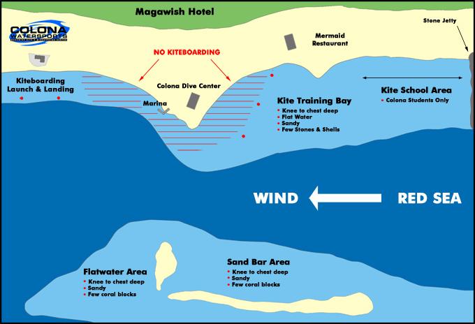 kitesurfing in hurghada map