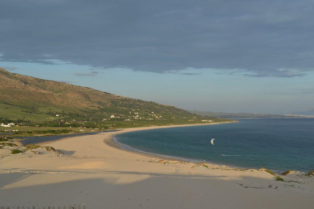 Tarifa kitebeach. view from the sand dunes