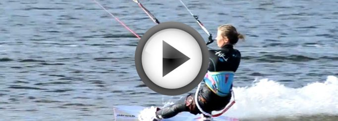 Lina in kitesurfing video from Finland – Summer 2013