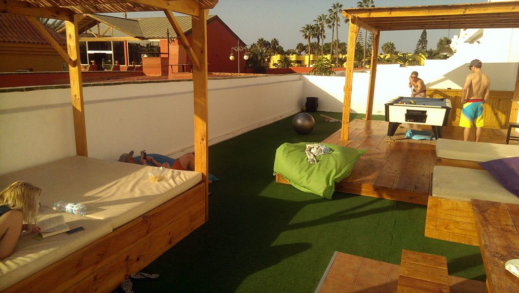 Planet surf camp chill area