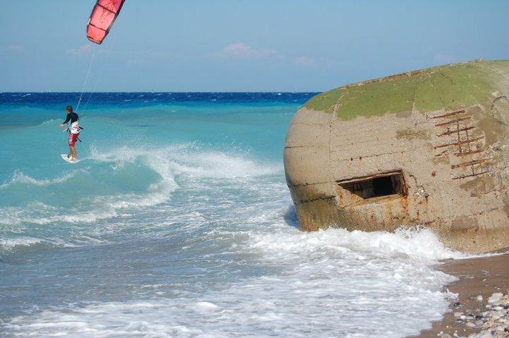 bunker at kitebeach in Kremasti