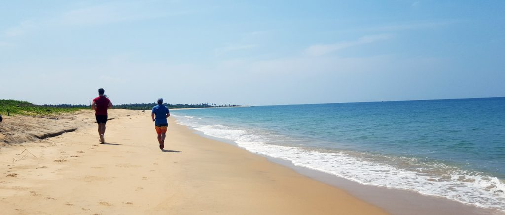 Running on the beach, Sri Lanka